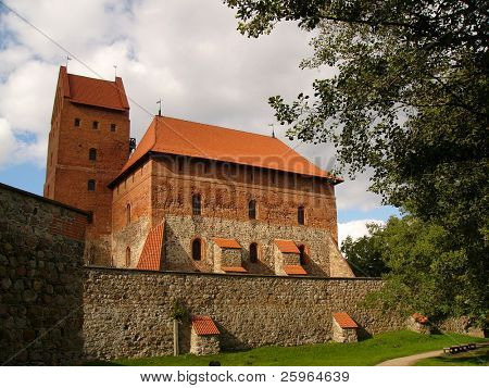 Trakai castle in Lithuania, Europe