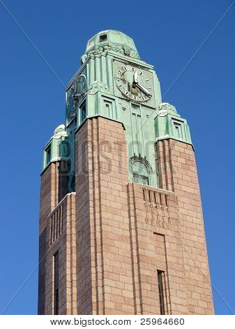 Trainstation tower in Helsinki, Finland, City Centrum