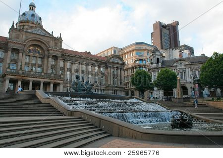 Victoria square and Council House in Birmingham (England)
