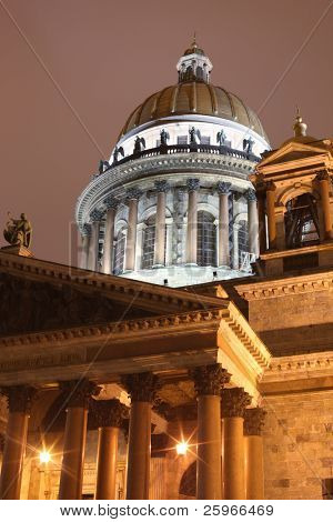 The dome of Isakievskij Cathedral. St. Petersburg. Russia