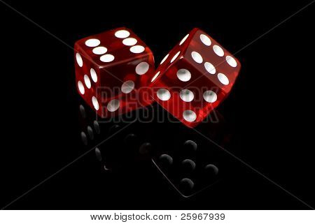 craps on a black background