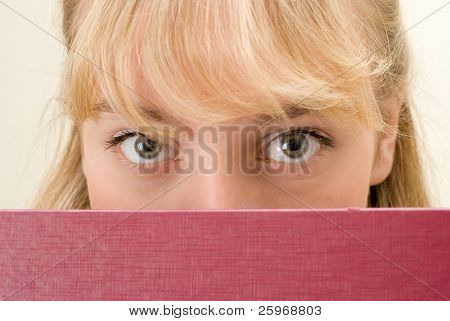 Eyes of the girl. A portrait