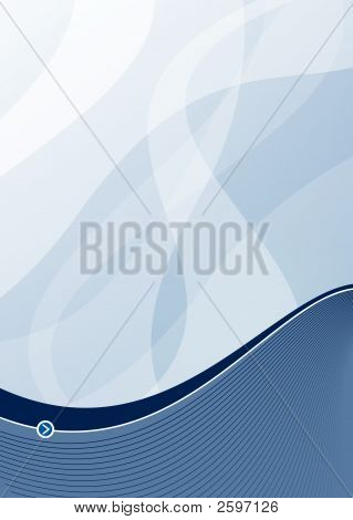 Steel Blue Wave Background Portrait