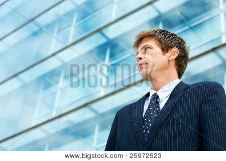 Man Outside Office Building