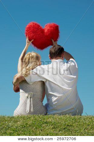 Enamoured pair outdoor