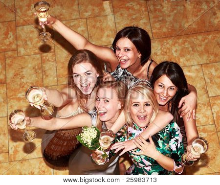 party bridesmaids before the wedding