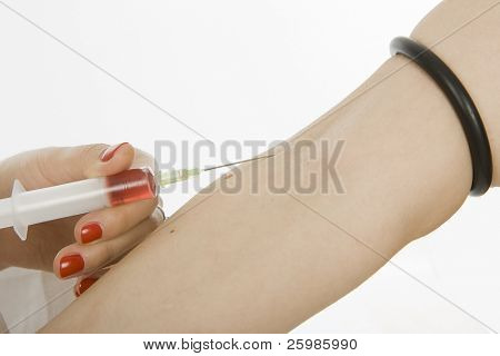 medical doctor injection needle