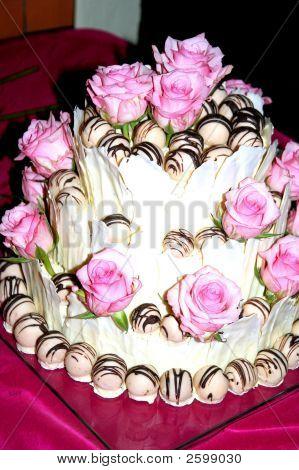 Pink Rose Cake
