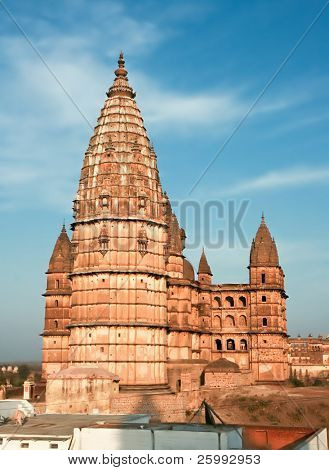 Chaturbhuj Temple, immensely solid building in Orchha, Madhya Pradesh, India