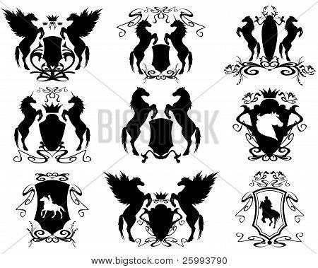 horse ridng emblems