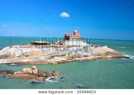Small island with Swami Vivekananda memorial, Mandapam, Kanyakumari, Tamil Nadu, India