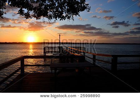 Sunset on Fishing Dock