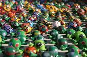 foto of bobble head  - colorful toys from mexico - JPG