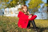 In Her Own Style. Keep Body Warm Clothes Autumn Days. Autumn Outfit Concept. Warm Coat Best Choice F poster
