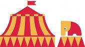 Постер, плакат: Стоит цирка слон