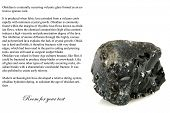 picture of obsidian  - volcanic glass  - JPG