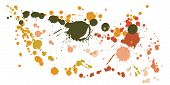 Watercolor Stains Grunge Background Vector. Decorative Ink Splatter, Spray Blots, Mud Spot Elements, poster