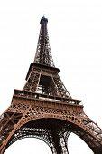 Постер, плакат: Знаменитая Эйфелева башня Парижа изолирован на белом