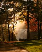 Autumns Waterfall Mist