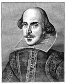 William Shakespeare, English poet and playwright. Engraving from The Leisure Hour Magazine april 186