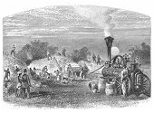 image of threshing  - Agriculture in Dakota - JPG