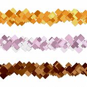 Seamless Square Pattern Paragraph Divider Line Design Set - Vector Decoration Elements poster