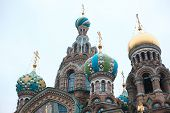 Church of the Savior on Blood - very famous landmark in Saint Petersburg, Russia, Europe poster