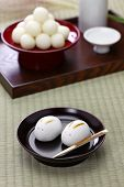 rabbit manju, japanese confection for moon viewing event  poster