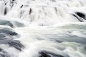 Gullfoss Waterfall Located In Canyon River Southwest Iceland. Water Stream Flow. Waterfall Nature La poster