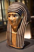 stock photo of king cobra  - Egyptian mummy mask  - JPG