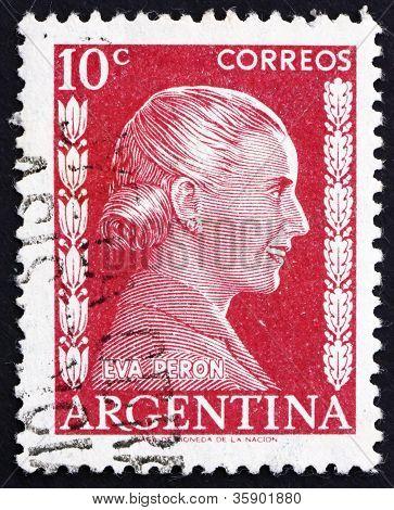 Selo postal Argentina 1952 Eva Perón, Evita