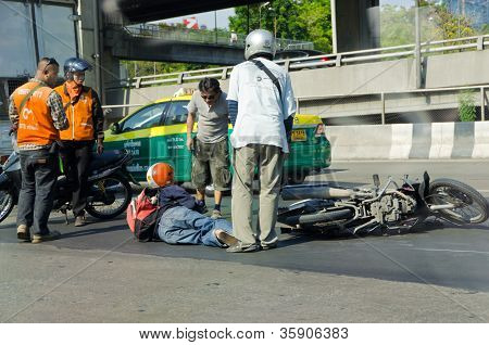 Helmet Save Riders From Accident On The Street.