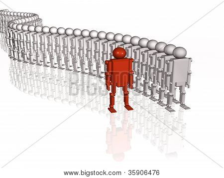 Grey And Red Robots