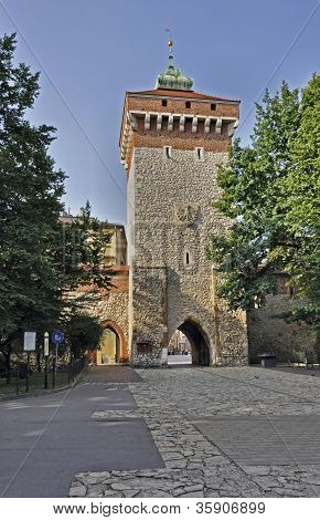 Florian's Gate In Krakow, Poland