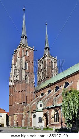 Gothic Cathedral In Wroclaw, Poland