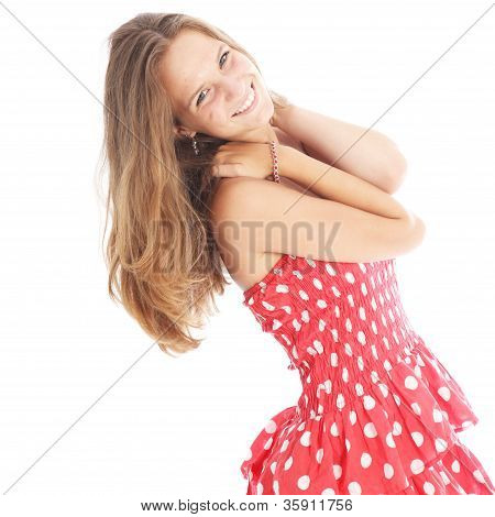 Happy Carefree Teenage Girl