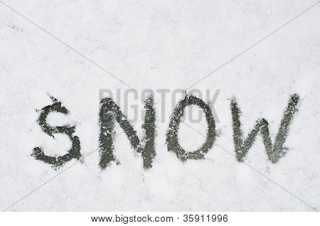 Conceptual word snow
