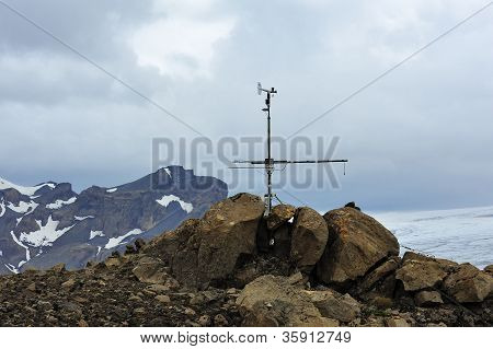 Meteo Station Near Glacier, Iceland