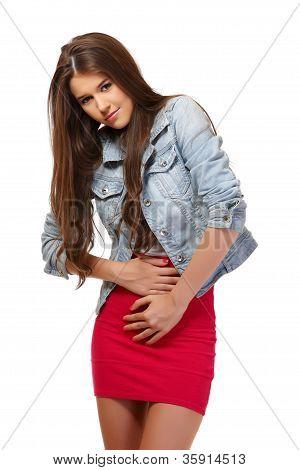Teenager Has Period Cramps