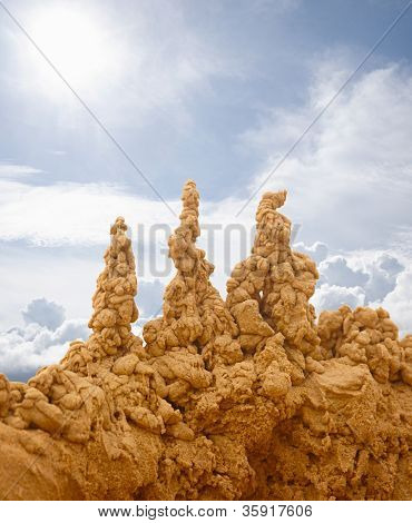 Sand Castles On Sky Background