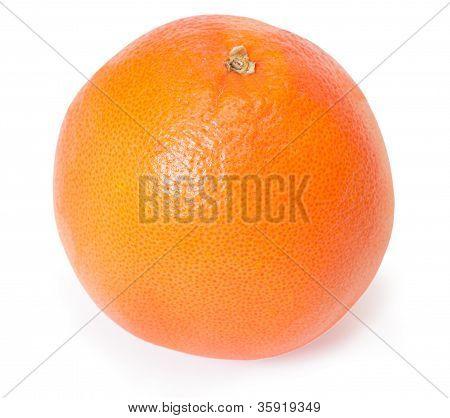 Single Grapefruit Isolated On White Background