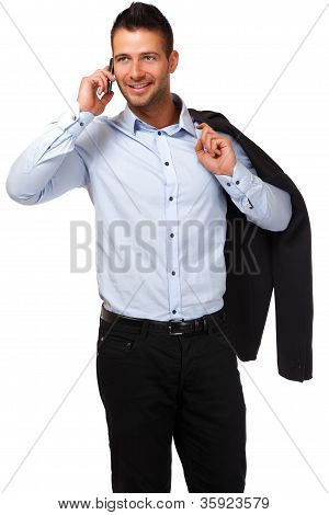 Handsome Businessman Making A Call