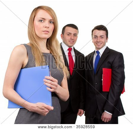 Three Business People