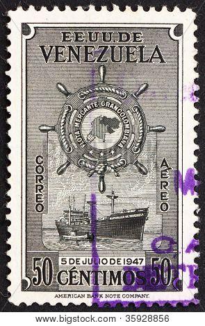 Postage stamp Venezuela 1949 M. S. Republica de Venezuela