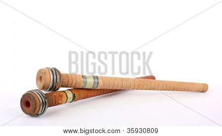 Antique Wooden Bobbins
