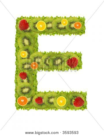Alphabet From Fruit - E