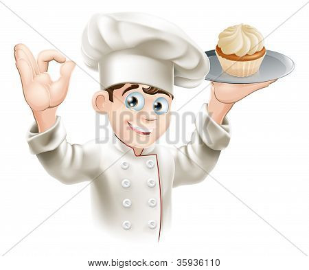 Baker With Cupcake