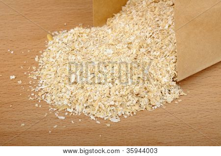 Oat Bran In A Paper Bag