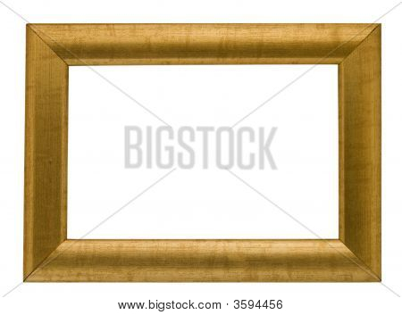 Empty Gold Coloured Frame,Clipping Path