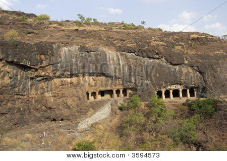 Rock Temples At Ellora Caves